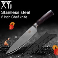 XYj Kitchen Knives 8 inch 7Cr17 Stainless Steel Chef Knife Frozen Meat Cutter Color Wood Handle Ultra-thin Blade Cooking Tools