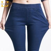 802.35 руб. 58% СКИДКА|Женские узкие укороченные джинсы LEIJIJEANS, синие джинсы скинни до щиколотки, со средней посадкой, эластичной талией, джинсовые капри,