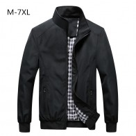 US $25.98  Free Shipping Bomber Solid Jacket Men Casual Spring Sportswear Motorcycle Mens Jackets for Male Coats Plus Size 4XL 5XL 6XL 7XL-in Jackets from Men