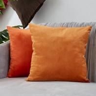 Наволочка для гостиной и дивана, 45*45, оранжевое украшение, бархатный домашний декор - Красивые подушки