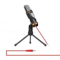 650.22 руб. 12% СКИДКА|3,5 мм разъем аудио конденсаторный микрофон для студийной звукозаписи проводной микрофон с подставкой для радио braodcasing пение-in Микрофоны from Бытовая электроника on Aliexpress.com | Alibaba Group