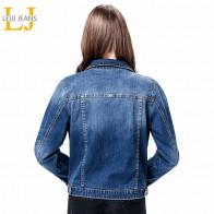 1183.99 руб. 53% СКИДКА|Женская джинсовая куртка LEIJIJEANS, длинная синяя классическая джинсовая куртка, приталенная однобортная куртка из денима, с рукавом полной длины, большие размеры до 6XL, лето-in Базовые куртки from Женская одежда on Aliexpress.com | Alibaba Group