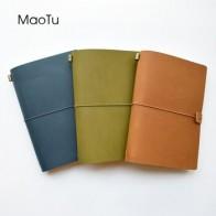 Кожаный Блокнот MaoTu, дорожный дневник, блокнот A5, винтажный корейский блокнот ручной работы, записная книжка, подарок, гравировка вашего име... - Кайфовые блокноты