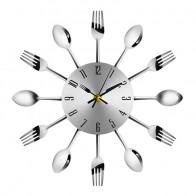 581.24 руб. 30% СКИДКА|Современный дизайн 3D цифровые настенные часы из нержавеющей стали нож вилка большие кухонные настенные часы кварцевые для домашнего офиса украшения-in Настенные часы from Дом и сад on Aliexpress.com | Alibaba Group