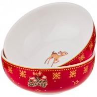 Купить Набор розеток с новым годом! елка 2 шт 10 см красный Lefard (85-1617) по низкой цене с доставкой из Яндекс.Маркета - Посуда для праздника