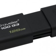 Флешка USB KINGSTON DataTraveler 100 G3 128Гб, USB3.0, черный
