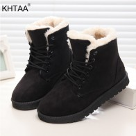 US $15.04 20% OFF|Women Winter Snow Boots Warm Flat Plus Size Platform Lace Up Ladies Women
