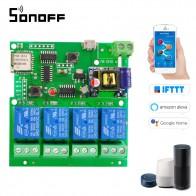 680.83 руб. 30% СКИДКА|Sonoff Smart Remote Управление модуль 4CH DC5V 12 В 32 В 220 В Jog толчковой самоблокирующимся RF получают 10A реле WI FI Беспроводной переключатель купить на AliExpress