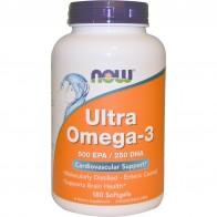 Now Foods, Ultra Omega-3, 500 EPA/250 DHA, 180 Weichgelatinekapseln
