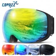 920.04 руб. 38% СКИДКА|Магнитная лыжные очки Новый COPOZZ брендовые двухслойные UV400 Анти туман большой Лыжная маска очки на лыжах мужские и женские зимние очки для катания на сноуборде купить на AliExpress