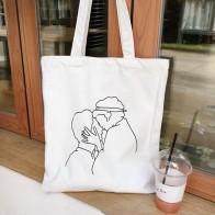 142.56 руб. 19% СКИДКА|Повседневная Женская майка, большая емкость, простая сумка для покупок с буквенным принтом, кремовый цвет, женская сумка для рук, простой пакет, сумка-in Хозяйственные сумки from Багаж и сумки on Aliexpress.com | Alibaba Group