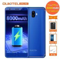 9154.67 руб. |Oukitel K8000 8000 mAh 4G смартфон 4 Гб Оперативная память 64 Гб Встроенная память 16MP + 13MP Android 7,0 MT6750T Octa Core 5,5