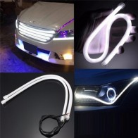 US $1.51 57% OFF|1x 45cm Flexible White Car Soft Tube LED Strip Light DRL Daytime Running Lamp-in Signal Lamp from Automobiles & Motorcycles on AliExpress