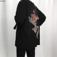 € 19.09 34% de DESCUENTO|2019 chaquetas de kimono de lino de verano para hombre chaquetas de lino de algodón étnico cereza dragón bordado de gasa protección solar ropa de mujer-in Chaquetas from Ropa de hombre on Aliexpress.com | Alibaba Group