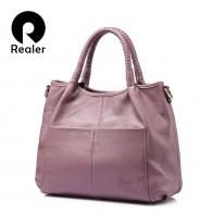 7583.43 руб. |REALER большая сумка женская натуральная кожа, сумки женские из натуральной кожи высокого качества большого объёма, сумка женская через плечо с короткими ручками-in Сумки с ручками from Багаж и сумки on Aliexpress.com | Alibaba Group