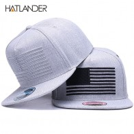 US $6.6 56% OFF|[HATLANDER] Raised flag embroidery cool flat bill baseball cap mens gorras snapbacks 3D flag hat ourdoor hip hop snapback caps-in Men
