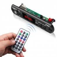 KEBIDU 5V 12V Car Bluetooth MP3 WMA USB/SD/FM/AUX Decoder Board Plate Audio Module Automobile Car MP3 Speaker Color screen