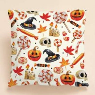 Halloween Print Cushion Cover Without Filler - Halloween decorations