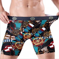 US $3.99 | Free Shipping  Men sport extended printed cotton boxer running wear  resistant leg five minute#7377 Sive L 4XL-in Boxers from Novelty & Special Use on Aliexpress.com | Alibaba Group
