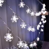 Рождественские украшения 5 м рождественское Рождество светодио дный строка огни декоративные navidad гирлянды снег, огни елочные украшения купить на AliExpress