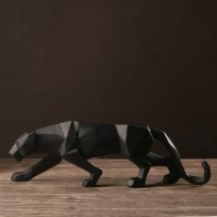 € 31.88 18% de réduction|Moderne abstrait noir panthère Sculpture géométrique résine léopard Statue faune décor cadeau artisanat ornement accessoires ameublement-in Statues et Sculptures from Maison & Jardin on Aliexpress.com | Alibaba Group