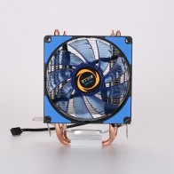 US $11.28 16% OFF|CPU Cooler 2 Heatpipes Blue LED CPU Fan Cooling Fans Computer Fan Coppery Aluminum Heatsink for LGA 775/115x/AM2/3/4 x79-in Laptop Cooling Pads from Computer & Office on Aliexpress.com | Alibaba Group