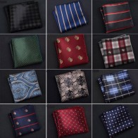 Роскошный мужской носовой платок в горошек, в полоску, с цветочным принтом, носовой платок из полиэстера, деловой карман, квадратное полотен...