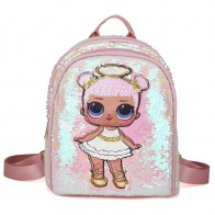 Hot LOL Surprise Doll Children Sequins Tide Sequins Backpack Kaeaii LOL Small Fresh Cute Bag for Children Birthday Gift  Toys