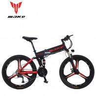 US $1546.0 53% OFF|MAKE Mountain Electric Bike Full Suspension Alluminium Folding Frame 27 Speed Shimano Altus Mechanic Brake 26