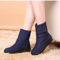 US $18.23 43% OFF|Snow boots women 2019 fashion solid casual shoes woman winter ankle boots women shoes warm round toe zipper shoes women boots-in Ankle Boots from Shoes on Aliexpress.com | Alibaba Group