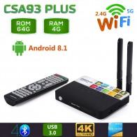 4366.13 руб. 30% СКИДКА|2019 CSA93 плюс Android 8,1 ТВ Box 4 Гб Оперативная память 64 Гб Встроенная память 2,4G 5G Wi Fi Bluetooth 4,0 smart Декодер каналов кабельного телевидения RK3328 H.265 4 K HD медиаплеер-in ТВ-приставки from Бытовая электроника on Aliexpress.com | Alibaba Group