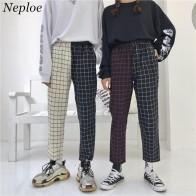 778.22 руб. 10% СКИДКА|Neploe винтажные платные лоскутные брюки Harajuku женские мужские брюки эластичные брюки с высокой талией корейские повседневные Прямые брюки 37403-in Штаны и капри from Женская одежда on Aliexpress.com | Alibaba Group