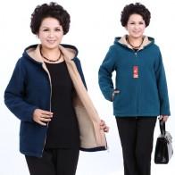 1678.42 руб. 35% СКИДКА|Зима среднего возраста женские с капюшоном имитация ягнят флисовая куртка дамы, теплые мягкие бархатное пальто для мамы пальто плюс Размеры верхняя одежда 1-in Базовые куртки для женщин from Женская одежда on Aliexpress.com | Alibaba Group