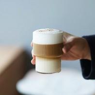 И рисунком в виде птичек-оригами Стиль прозрачная стеклянная чашка Чай Кофе кружка, кружка для ледяного пива жароустойчивой стекло чашки тв... - Стильный дом