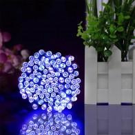 22 M 200 светодио дный Солнечный гирлянды Рождественская улица гирлянды светодио дный строка полосы света открытый Водонепроницаемый для сада свадьбы лампа купить на AliExpress