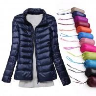 US $16.98 37% OFF|Winter Women Jacket White Duck Down Jacket Women Autumn Slim Warm Coat Lady Ultralight Long Sleeve Down Coat Female Plus Size-in Down Coats from Women