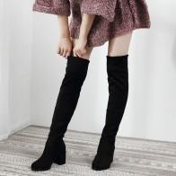 1506.42руб. 40% СКИДКА|Пикантные облегающие эластичные ботфорты из флока; женская обувь; коллекция 2019 года; сезон осень зима; женские высокие сапоги до бедра на высоком каблуке; botas-in Ботфорты from Обувь on AliExpress - 11.11_Double 11_Singles