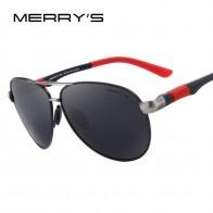 661.75 руб. 45% СКИДКА|MERRYS дизайн Для мужчин Classic Pilot Sunglasses HD поляризованных солнцезащитных очков для вождения авиации сплав Frame Весна ноги UV400 S8404 купить на AliExpress
