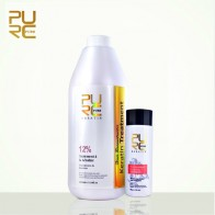 US $38.05 48% OFF|PURE repair and straighten damage hair product 12% formlain 1000ml pure chocolate keratin treatment and purifying shampoo set-in Hair & Scalp Treatments from Beauty & Health on Aliexpress.com | Alibaba Group