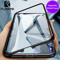 US $9.07 |FLOVEME Magnetic Metal Case For Apple iPhone X Tempered Glass Case Luxury High Transparency Back Cover For iPhone 8 7 Plus Coque-in Fitted Cases from Cellphones & Telecommunications on Aliexpress.com | Alibaba Group