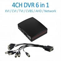 2278.27 руб. 12% СКИДКА|ENSTER 4CH TVI XVI CVI AHD аналоговый сетевой цифровой видеомагнитофон с аудио в 1080N Мини DVR XMEYE App TF карта USB HDD Запись купить на AliExpress
