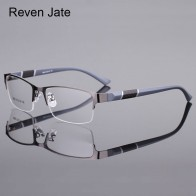 US $7.92 78% OFF|Reven Jate 8850 Half Rim Alloy Front Rim Flexible Plastic TR 90 Temple Legs Optical Eyeglasses Frame for Men and Women Eyewear-in Men