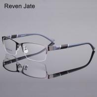 US $7.92 78% OFF|Reven Jate 8850 Half Rim Alloy Front Rim Flexible Plastic TR 90 Temple Legs Optical Eyeglasses Frame for Men and Women Eyewear-in Men