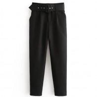 1141.72 руб. 20% СКИДКА|Высокая талия офисные женские брюки с поясом повседневные Черные шаровары с поясом элегантные женские брюки-in Женские наборы from Женская одежда on Aliexpress.com | Alibaba Group