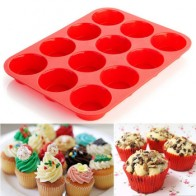 12 шт. новая силиконовая Форма кекса для выпечки кексов, инструменты для выпечки, антипригарная форма для торта, посудомоечная машина, микров... - Принадлежности для выпечки