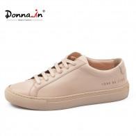 3478.78 руб. 53% СКИДКА|Donna in/женские кроссовки из натуральной кожи; плоские на низком каблуке; женские модные дышащие туфли на платформе со шнуровкой; женская обувь; модель 2019 года; цвет белый, телесный-in Женская обувь без каблука from Туфли on Aliexpress.com | Alibaba Group