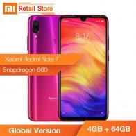 12423.55 руб. |Глобальная версия Xiaomi Redmi Note 7 Note7 4 GB + 64 GB мобильный телефон Snapdragon 660 Octa Core 48MP + 13MP 6,3