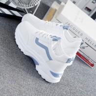 1296.04 руб. 47% СКИДКА|Женские кроссовки; коллекция 2019 года; модная повседневная обувь; женские удобные дышащие белые туфли на плоской подошве; женские кроссовки на платформе; Femme-in Женская вулканизированная обувь from Туфли on Aliexpress.com | Alibaba Group