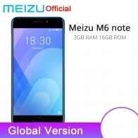 8568.56 руб. |Официальный Глобальный Версия Meizu M6 Примечание 3 GB 16 GB мобильный телефон 4G LTE Snapdragon 625 Octa Core 5,5