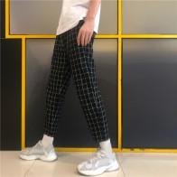 793.9 руб. 5% СКИДКА|Корейский уличная мода клетчатый блок Тонкий лодыжки брюки летние тонкие карманные брюки студенческие Ulzzang Элегантные повседневные японский низ-in Штаны и капри from Женская одежда on Aliexpress.com | Alibaba Group